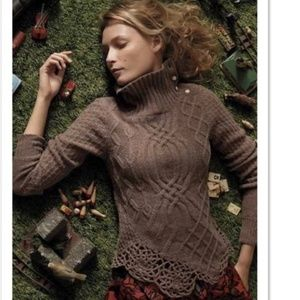 Anthropologie Moth Cable Knit Pathways Sweater M